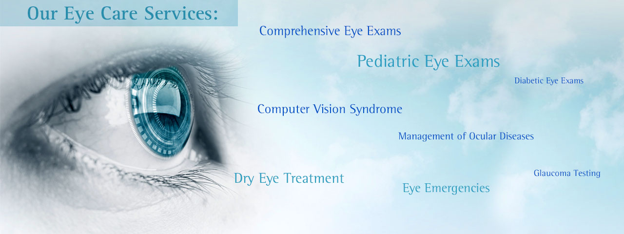 Eye in ad for eye care services